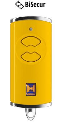 Dálkový ovladač Hörmann BiSecur HSE 2 BS (žlutý) - 868 MHz