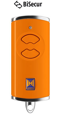 Dálkový ovladač Hörmann BiSecur HSE 2 BS (oranžový) - 868 MHz