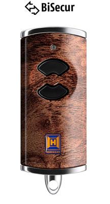 Dálkový ovladač Hörmann BiSecur HSE 2 BS (tmavé dřevo) - 868 MHz