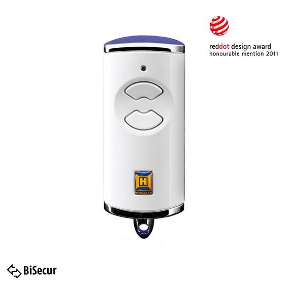 Dálkový ovladač Hörmann BiSecur HSE 2 BS (lesk, bílý) - 868 MHz