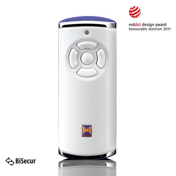 Dálkový ovladač Hörmann BiSecur HS 5 BS (lesk, bílý) - 868 MHz